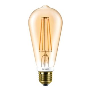 PHILIPS Classic LEDbulb Filament 7 Watt E27 825 2500 Kelvin 720 Lumen ST64 gold transparent warmweiss extra dimmbar