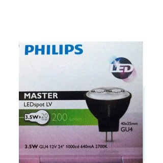 PHILIPS Master LEDspot LV MR11 3,5 Watt 827 GU4 24 Grad warmton extra