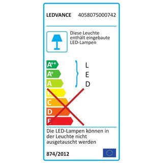 OSRAM LEDVANCE LED Linsenleuchte Surface Circular C 350 18 Watt 830 warmweiß IP44